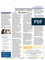 Pharmacy Daily for Mon 15 May 2017 - Global speakers connect, Priceline Potts Point wins, PSA voting record, Weekly Comment and much more