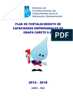 Plan de fortalecimiento de capacidades Emapa Cañete