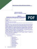 Anexo H Esquema Del Informe Mensual Del Supervisor de Obra en El CDE