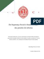 Da Segurança Social a Financeirizacao