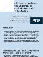 Philippine Technocracy and Class Politics - Challenges to Democratic Governance in Policy-Making (Tadem)