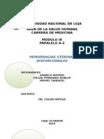 6to Tema - Hemorragias Uterinas Disfuncionales