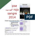 Eclipse Lunar Rojo Sangre 2014