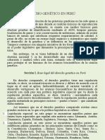 Derecho Genetico en Peru