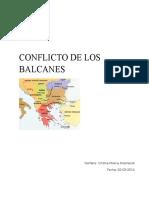 Conflicto de Los Balcanes