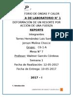 DEFORMACIÓN DE UN RESORTE POR ACCIÓN DE UNA FUERZA