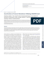 Inactivation of Cancer Mutations Utilizing CRISPR Cas9