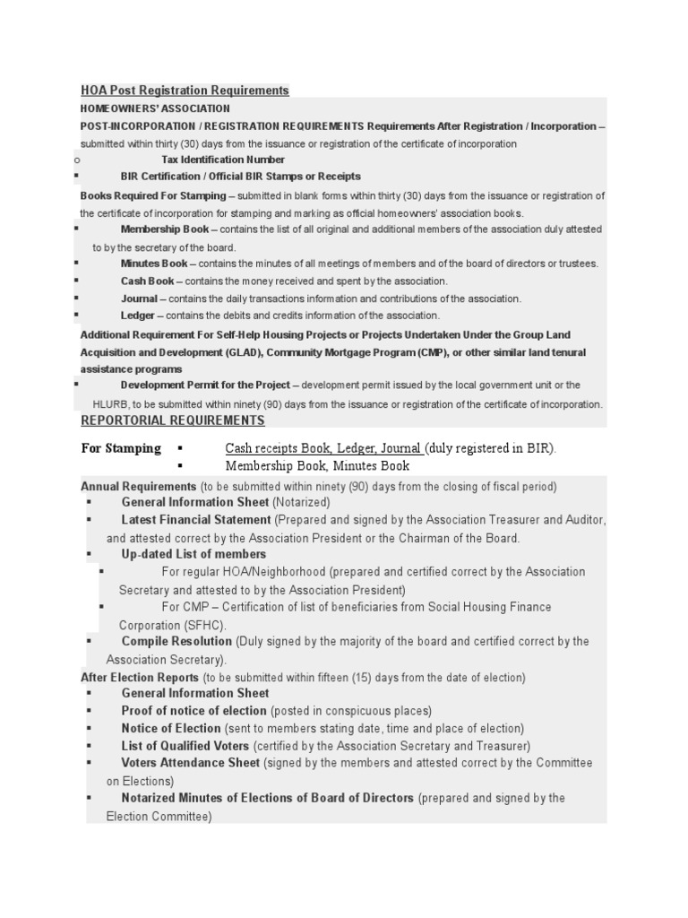 Hoa Post Registration Requirements Notary Public Voting