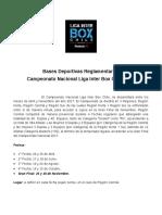 Bases Deportivas Reglamentarias Campeonato Nacional Liga Inter Bo 2017 Chile