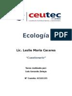 Cuestionario Ecología