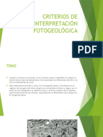 Criterios de Interpretación Fotogeológica
