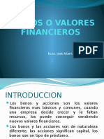 Titulos o Valores Financieros