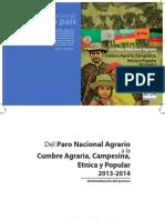 Del Paro nacional agrario a la Cumbre Agraria Campesina Étnica y Popular