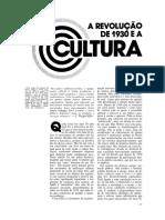 CANDIDO, Antonio Revolucao de 1930 e a Cultura
