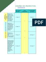 Plantilla de Excel Con Gráficos de Gantt Para Gestión de Proyectos