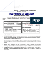 Costo NI Post Presencial Doctorado