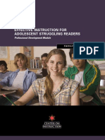 Effective Instruction for Adolescent Struggling Readers PD Module Facilitator's Guide