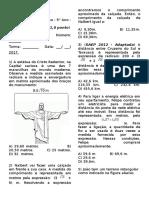 B2 Avaliação  de Matemática - 9° Ano (Radiciação)