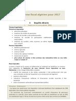 Systeme Fiscal Algerien 2017
