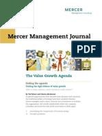 The Value Growth Agenda