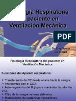 Fisiologia Respiratoria Del Paciente en Ventilacion Mecanica