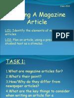 Writing an Magazine Article (KS4)