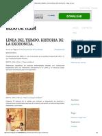Línea Del Tiempo. Historia de La Exodoncia