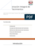 Administración Integral de Yacimientos