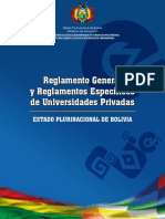 reglamento universidades privadas