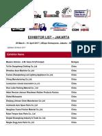 Exhibitor List Inapa 2017
