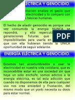 Sistema Eléctrico y Genocidio