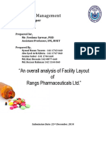 Rangs Pharmaceuticals Ltd Facility Layout Analysis