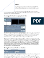 Importing Audio Into Flash