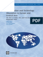 Worldbank - Globalization and Technology Absorption in Europe and Central Asia the Role of Trade, FDI and Cross-border Knowledge Flows,Goldberg Et Al, 2008