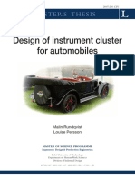 Design of Instrument Cluster
