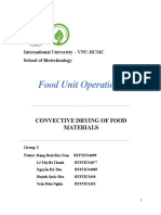 Lab 2 Convective Drying of Food Materials 1