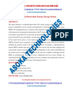 Residential Photovoltaic Energy Storage System