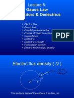 6 Lecture 5 Gauss Capacitor Dielectric