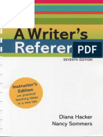 A Writer's Reference 7th Ed. (2011 MLA) Hacker & Sommers - Instructor's Edition (1)