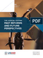 The Judicial System, Past Reforms and Future Perspectives