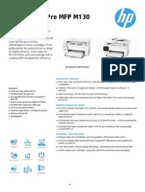 HP LaserJet Pro MFP M130 Printer series | Image Scanner