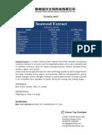 Ekstrak rumput laut-Technicial Sheet-Seaweed Extract-Ganzhou Green Top Biological Technology Co.,Ltd.