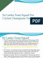 Sri Lanka Team Squad for Cricket Champions Trophy