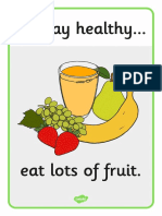 Natural. 3ºp. Unit 3. Healthy Habits Flash Cards