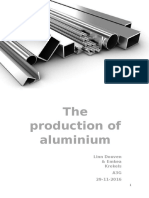 the production of aluminium