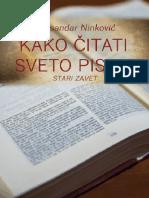 Kako Čitati Sveto Pismo Stari Zavet