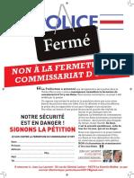 Petition contre la fermeture du commissariat d'Ivry