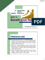 12 Benefit Cost Ratio