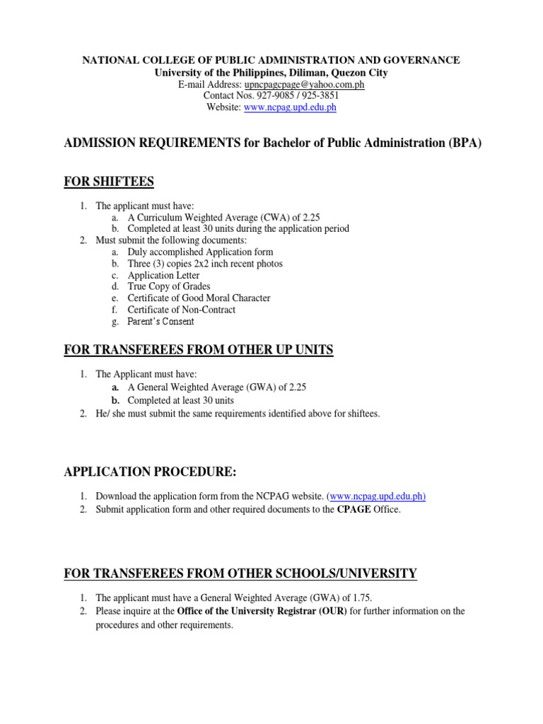 Certificate of good moral character parental travel consent free bpa admission requirements shiftees transferees 1pdf 1498061576 bpa admission requirements shiftees transferees 1 pdf certificate of good moral character yadclub Images