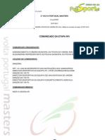 CLASSIFICAÇÃO 5ª ETAPA - 2ª VOLTA PORTUGAL MASTERS